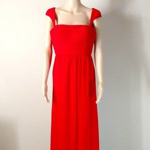 NWT Faviana A-Line  Formal Gown with Cap Sleeves
